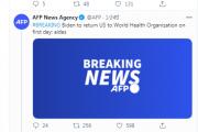 恒行2娱乐app:外媒:拜登上任第一天美国将重返WHO